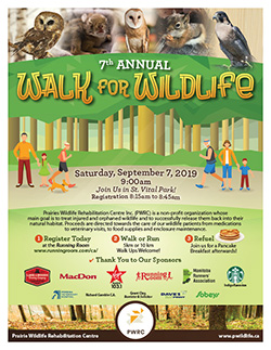 PWRC Walk for Wildlife 2019 Poster